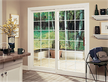 White, Inline Sliding French Patio doors
